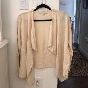 Brochure Walker Cardigan with Leather Detailing